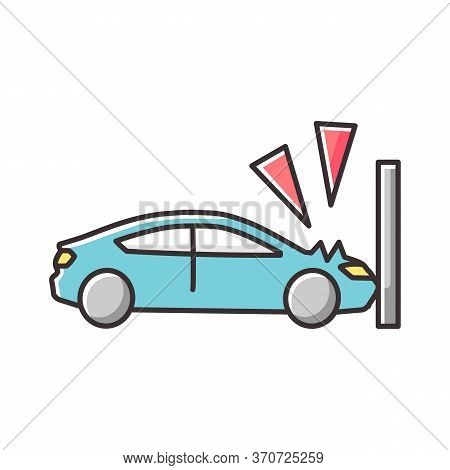 Crash Test Rgb Color Icon. Traffic Accident, Car Wreck, Life Insurance. Vehicle Protective Systems C