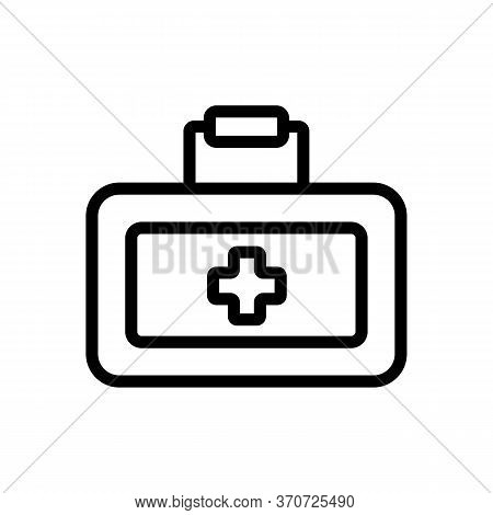 First Aid Kit Car Accessory Icon Vector. First Aid Kit Car Accessory Sign. Isolated Contour Symbol I
