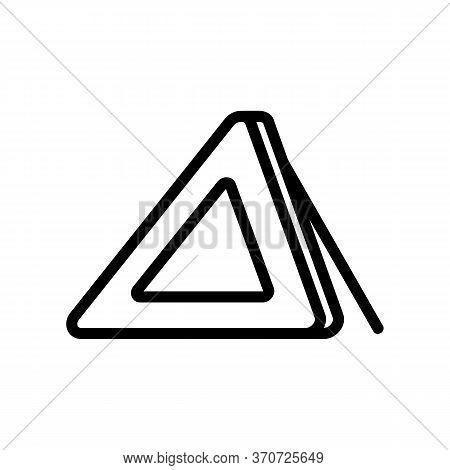 Triangle Alert Car Accessory Icon Vector. Triangle Alert Car Accessory Sign. Isolated Contour Symbol