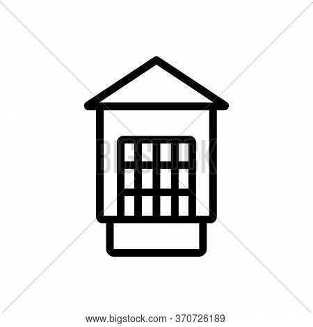 Cage For Domestic Animal Icon Vector. Cage For Domestic Animal Sign. Isolated Contour Symbol Illustr