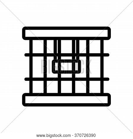 Cage For Domestic Parrot Icon Vector. Cage For Domestic Parrot Sign. Isolated Contour Symbol Illustr