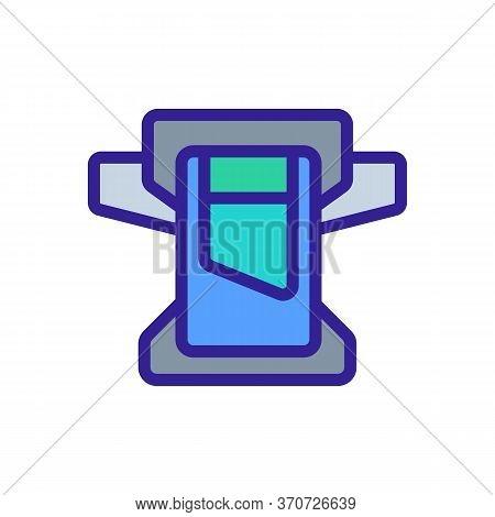 Belt Wallet Icon Vector. Belt Wallet Sign. Isolated Color Symbol Illustration