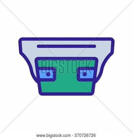 Waist Bag For Carrying Cash Icon Vector. Waist Bag For Carrying Cash Sign. Isolated Color Symbol Ill