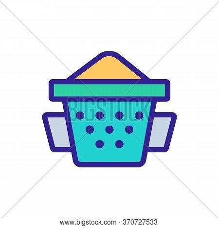 Sieve Kitchen Accessory Icon Vector. Sieve Kitchen Accessory Sign. Isolated Color Symbol Illustratio
