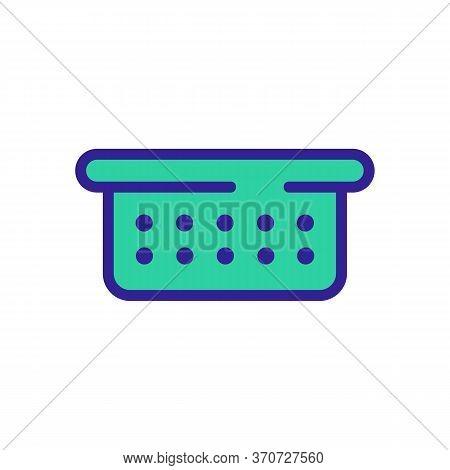 Sieve Colander Icon Vector. Sieve Colander Sign. Isolated Color Symbol Illustration