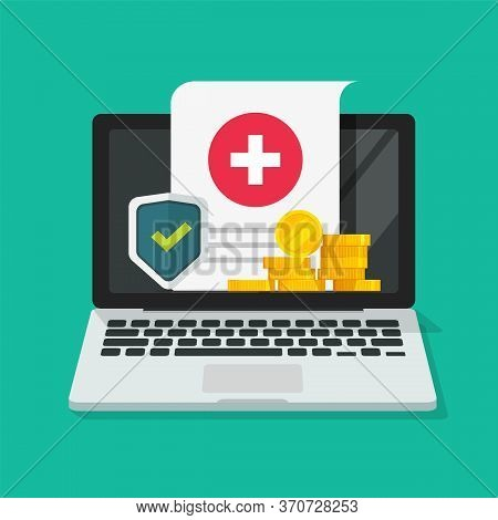 Medical Health Care Insurance Form Protection Online On Computer Or Pc Digital Financial Internet Me