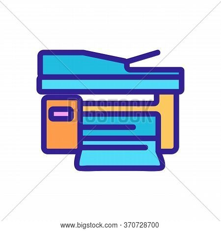Document Scanning And Printing Device Icon Vector. Document Scanning And Printing Device Sign. Isola