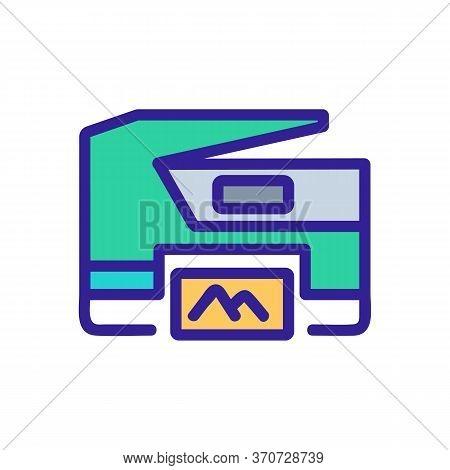 Photocopier Photo Printing Device Icon Vector. Photocopier Photo Printing Device Sign. Isolated Colo