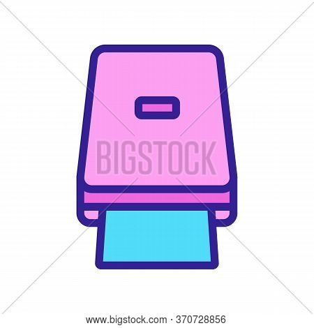 Portable Photocopier Icon Vector. Portable Photocopier Sign. Isolated Color Symbol Illustration