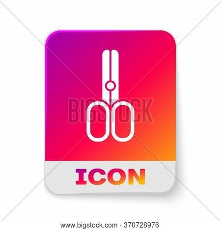 White Scissors Hairdresser Icon Isolated On White Background. Hairdresser, Fashion Salon And Barber