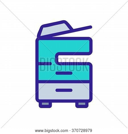 Multifunctional Printer Icon Vector. Multifunctional Printer Sign. Isolated Color Symbol Illustratio