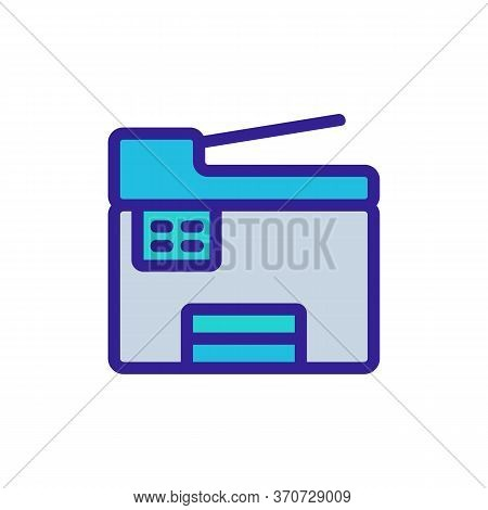 Scanner Printer Device Icon Vector. Scanner Printer Device Sign. Isolated Color Symbol Illustration