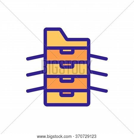 Photocopier Office Technology Icon Vector. Photocopier Office Technology Sign. Isolated Color Symbol