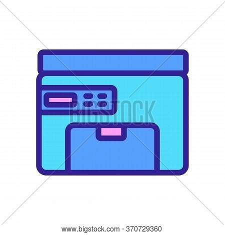 Printer Fax Electronic Equipment Icon Vector. Printer Fax Electronic Equipment Sign. Isolated Color