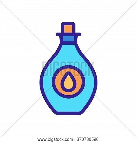Oil Cosmetic Aromatic Liquid Icon Vector. Oil Cosmetic Aromatic Liquid Sign. Isolated Color Symbol I