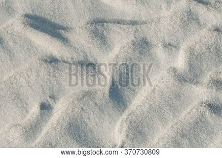 Sand On The Beach As Background. Sand Texture. Top View