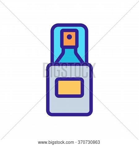 Makeup Remove Skin Care Spray Icon Vector. Makeup Remove Skin Care Spray Sign. Isolated Color Symbol