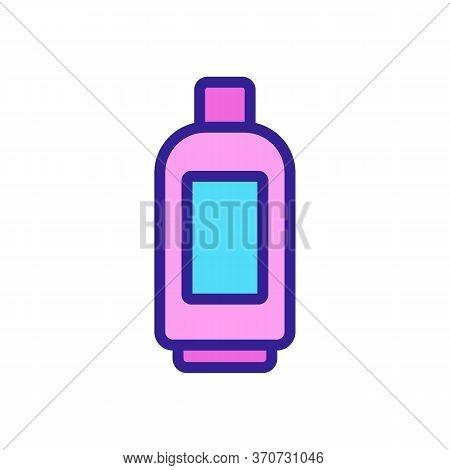 Makeup Remover Gel Bottle Icon Vector. Makeup Remover Gel Bottle Sign. Isolated Color Symbol Illustr