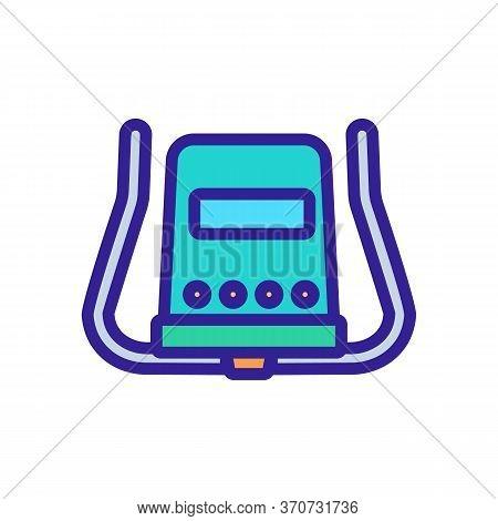 Exercise Bike Rudder Icon Vector. Exercise Bike Rudder Sign. Isolated Color Symbol Illustration