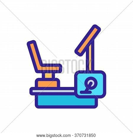 Exercise Bike Athlete Device Icon Vector. Exercise Bike Athlete Device Sign. Isolated Color Symbol I
