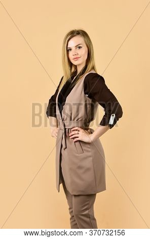Fashion In The Making. Always Look Elegant. Clothes For Everyday Life. Businesswoman Or Secretary. S