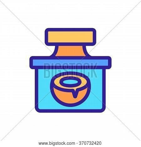 Coconut Creamy Liquid Container Icon Vector. Coconut Creamy Liquid Container Sign. Isolated Color Sy