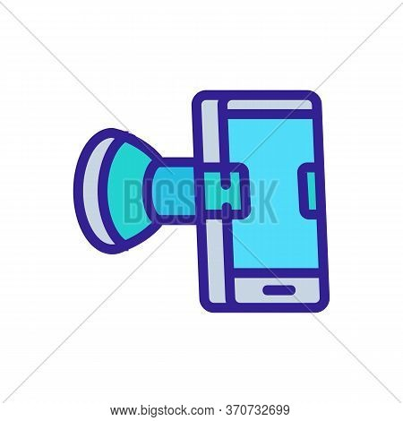 Phone Holder Icon Vector. Phone Holder Sign. Isolated Color Symbol Illustration