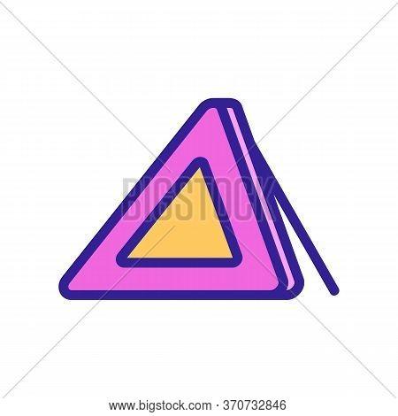 Triangle Alert Car Accessory Icon Vector. Triangle Alert Car Accessory Sign. Isolated Color Symbol I