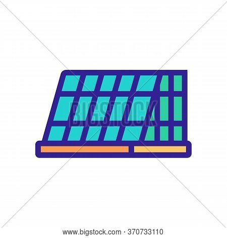 Cage For Domestic Animal Icon Vector. Cage For Domestic Animal Sign. Isolated Color Symbol Illustrat