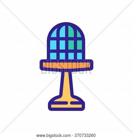 Cage For Domestic Parrot Icon Vector. Cage For Domestic Parrot Sign. Isolated Color Symbol Illustrat