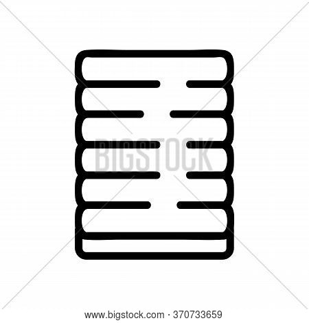 Yoga Mat For Exercise Icon Vector. Yoga Mat For Exercise Sign. Isolated Contour Symbol Illustration