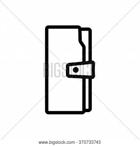 Wallet Fashion Style Accessory Icon Vector. Wallet Fashion Style Accessory Sign. Isolated Contour Sy