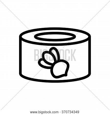 Turnip Tin Icon Vector. Turnip Tin Sign. Isolated Contour Symbol Illustration