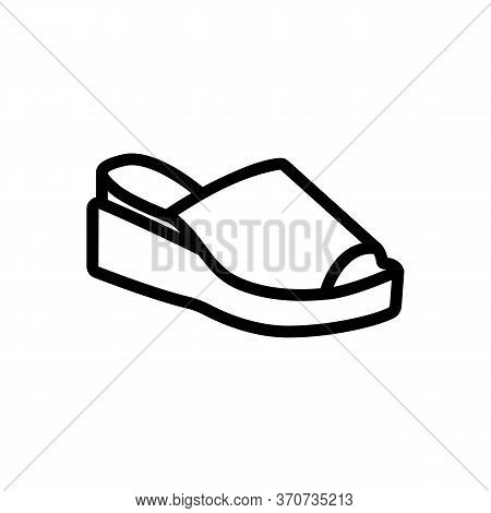 Wedge Shoe Icon Vector. Wedge Shoe Sign. Isolated Contour Symbol Illustration
