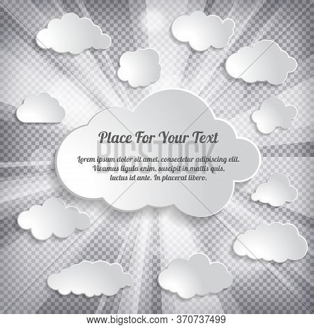 Abstract Creative Concept Vector Cloud On A Chequered Background