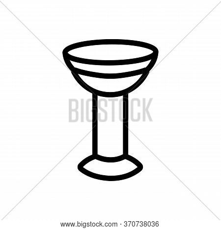 Contact Lens On Pedestal Icon Vector. Contact Lens On Pedestal Sign. Isolated Contour Symbol Illustr