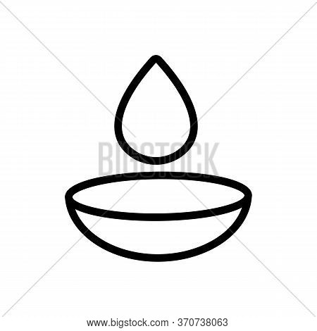 Contact Lens And Liquid Drop Icon Vector. Contact Lens And Liquid Drop Sign. Isolated Contour Symbol