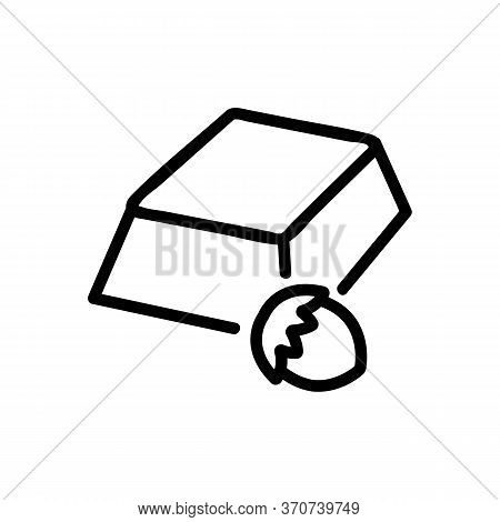 Chocolate With Hazelnut Icon Vector. Chocolate With Hazelnut Sign. Isolated Contour Symbol Illustrat