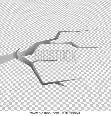 Chequered Cracked Ground Floor Illustrated In Vector
