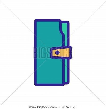 Wallet Fashion Style Accessory Icon Vector. Wallet Fashion Style Accessory Sign. Isolated Color Symb