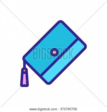 Wallet Female Accessory Icon Vector. Wallet Female Accessory Sign. Isolated Color Symbol Illustratio