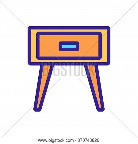 Nightstand Bedside Furniture Icon Vector. Nightstand Bedside Furniture Sign. Isolated Color Symbol I