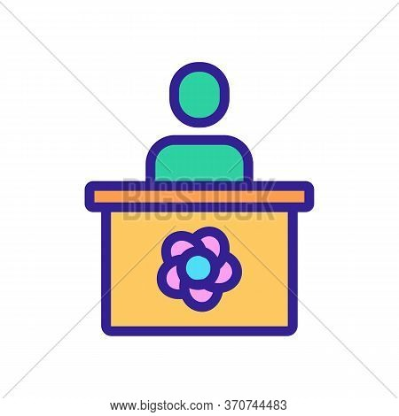 Flower Shop Seller Icon Vector. Flower Shop Seller Sign. Isolated Color Symbol Illustration
