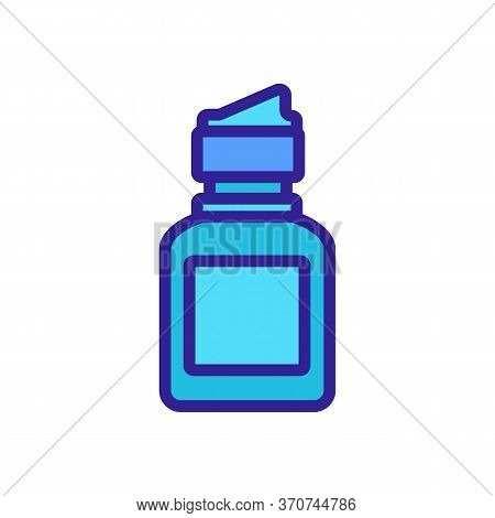 Contact Lens Protection Liquid Bottle Icon Vector. Contact Lens Protection Liquid Bottle Sign. Isola