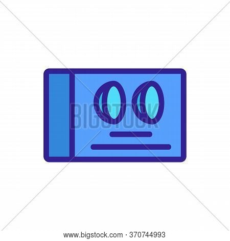 Contact Lens Package Box Icon Vector. Contact Lens Package Box Sign. Isolated Color Symbol Illustrat