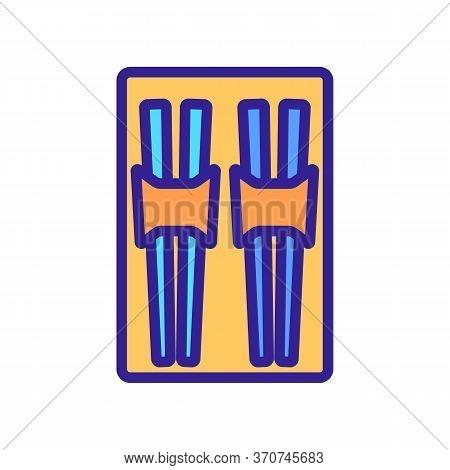 Chopstick Kitchen Ware Set Icon Vector. Chopstick Kitchen Ware Set Sign. Isolated Color Symbol Illus
