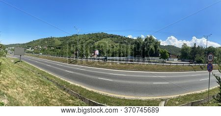 Almaty, Kazakhstan - June 4, 2020: View To East Bypass Road, It Is One Of The Main Roads In The City