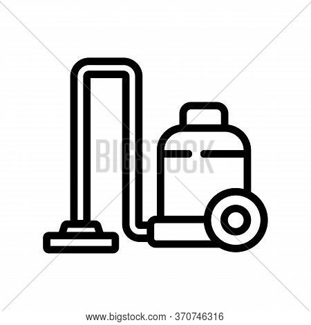 Floor Wet Vacuum Cleaner Icon Vector. Floor Wet Vacuum Cleaner Sign. Isolated Contour Symbol Illustr