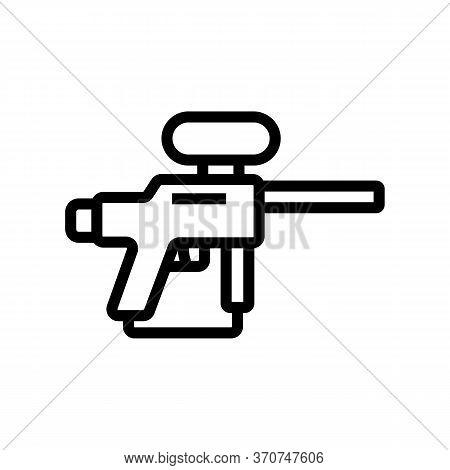 Paintball Gun Icon Vector. Paintball Gun Sign. Isolated Contour Symbol Illustration