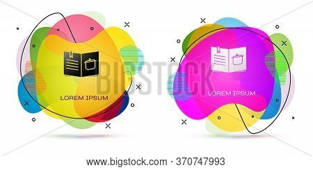 Color Cookbook Icon Isolated On White Background. Cooking Book Icon. Recipe Book. Fork And Knife Ico
